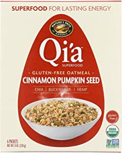 Nature's Path Organic Qi'A Superfood Hot Oatmeal - Cinnamon Pumpkin Seed - Case of 6 - 8 oz.