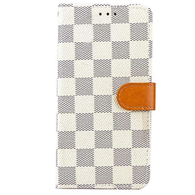 Amazon Com Samsung Galaxy S9 Case Wallet Luxury Grid Checker Faux
