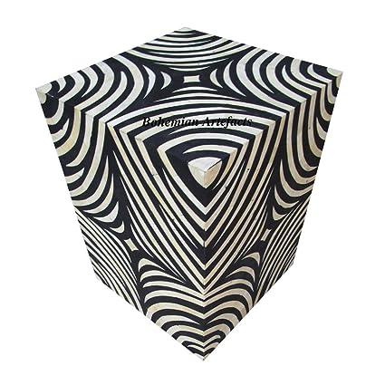 Amazon Com Luxury Handicrafts Bone Inlay Zebra Design Side Table