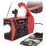 [2021 Premium Version] Emergency-Solar-Hand-Crank-Radio,Puiuisoul Portable NOAA Weather Radios with AM/FM, Alarm,Reading Lamp