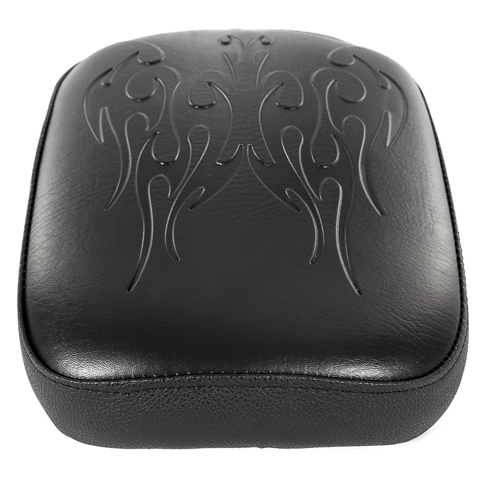Sella Blacl Pillion Pad 8 ventosa solo sedile posteriore sedile passeggero Pad per Harley