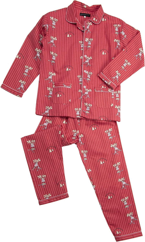 Jusquau lever du jour Ensemble Pyjama Hiver Flanelle-Pilou Homme avec Motif Rigolo