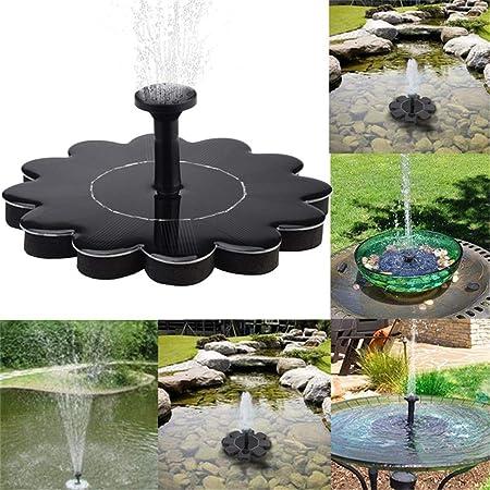 AIMCAE Bomba de Agua de energía Solar Bomba de Fuente para baño de Aves Paneles solares de 1.4w para Piscinas, Jardines y acuarios: Amazon.es: Hogar