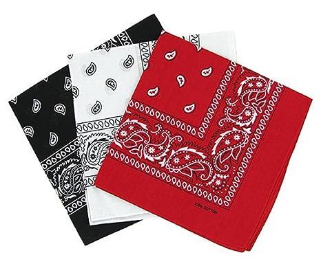 8335bf53326 PURECITY© Bandana Original Paisley Motif Cachemire Pur Coton Foulard  Qualité Supérieure Vendu par Lot -