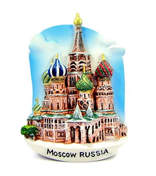 Imanes de nevera recuerdos Rusia St. basil Catedral de Moscú ruso ...