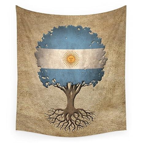 Society6 – de árbol de la vida con bandera de Argentina pared tapiz, multicolor,