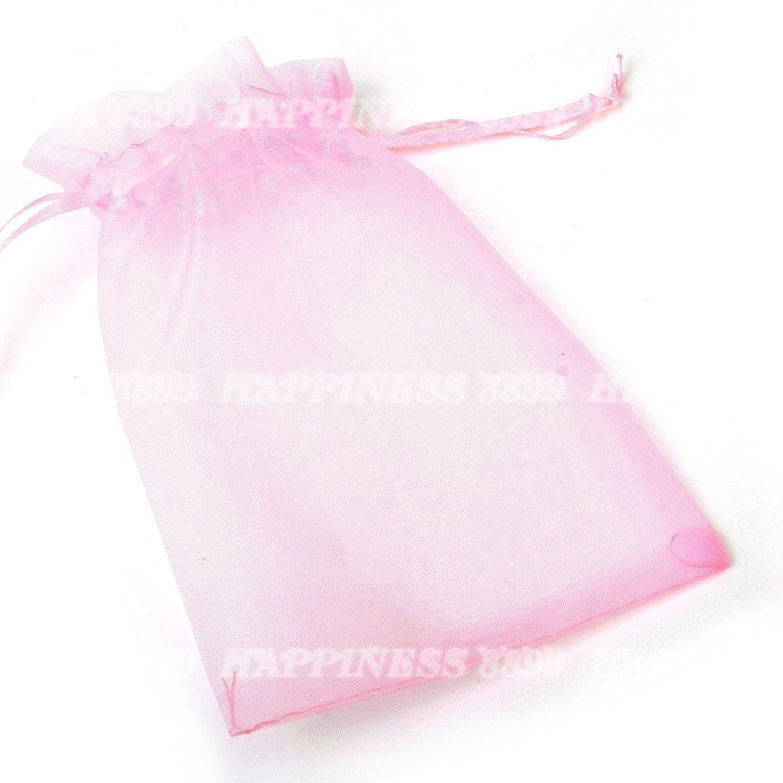 Switty Lot de 50sacs cadeau mariage en organza Bijoux Pouch Candy Sac (Rose)