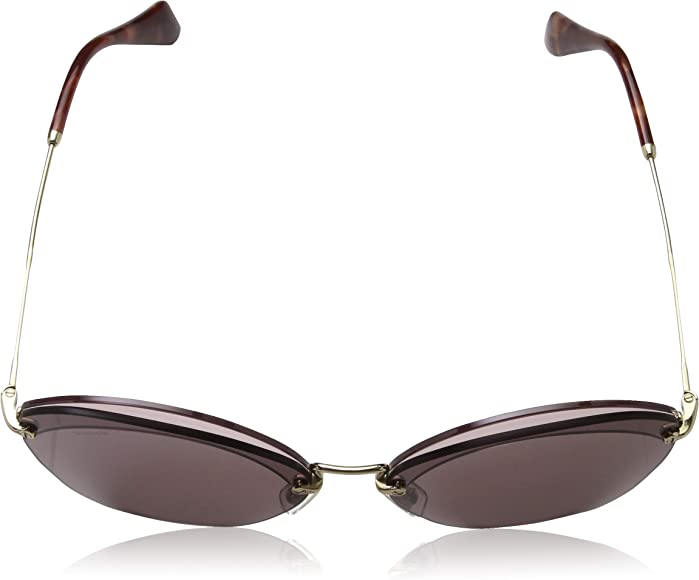 Miu Miu 02RS 7S31L0 Ivory 02RS Square Sunglasses Lens Category 1 Size 67mm