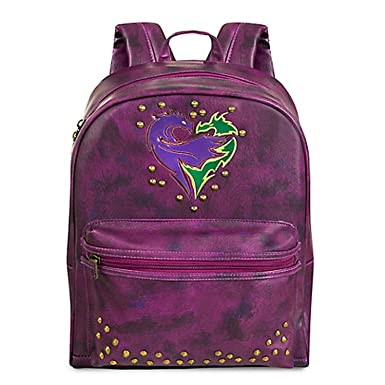 Disney Descendants 2 Faux Purple Leather Backpack
