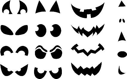 Bouche Citrouille Halloween.Lot D Autocollants En Vinyle Visage De Citrouille Halloween Outils De Taille Et De Decoupe Fabriques Et Crees Par Epic Modz Amazon Fr Cuisine Maison