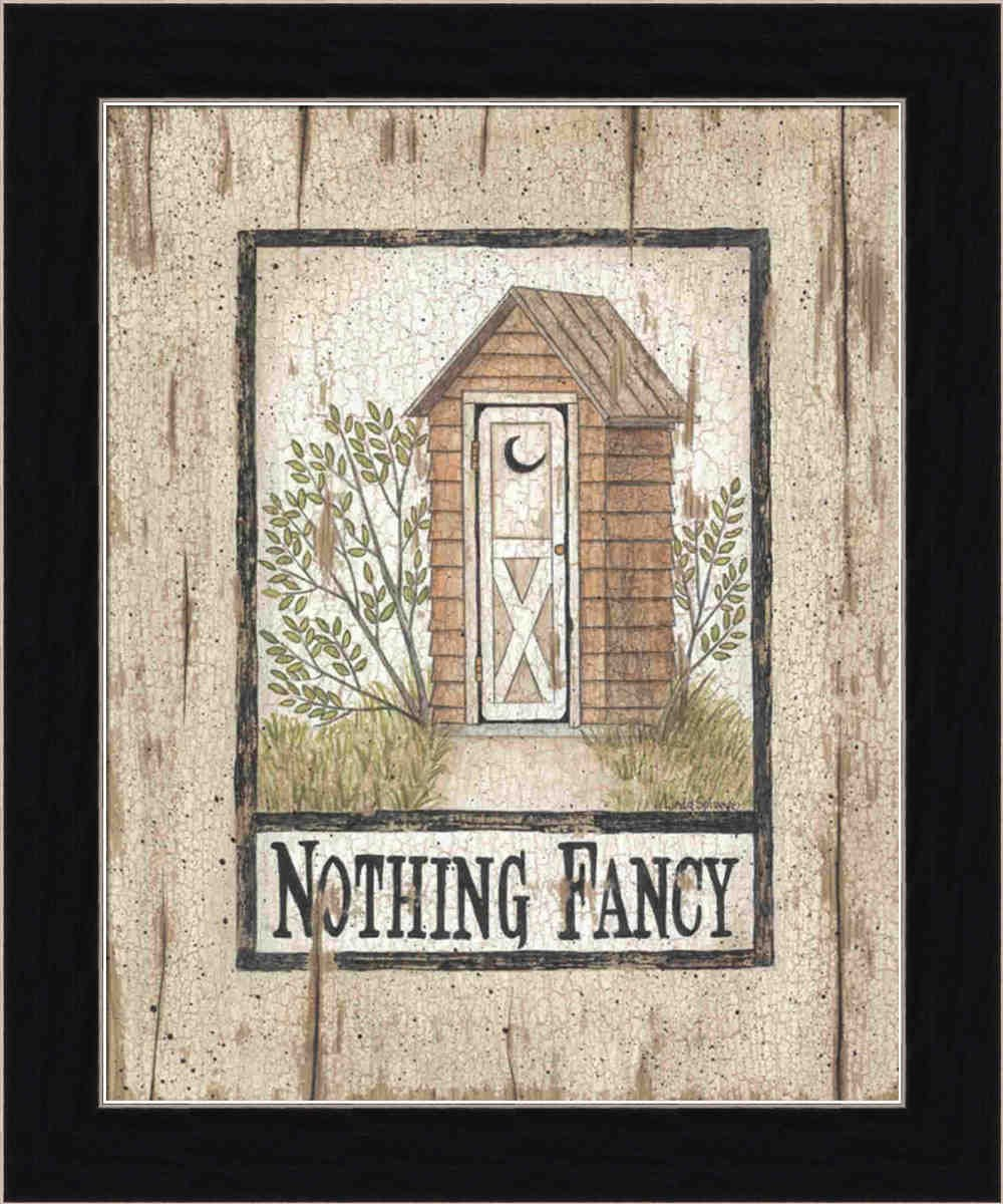 Amazon.com: Nothing Fancy Outhouse by Linda Spivey Rustic Sign 9.5 ...