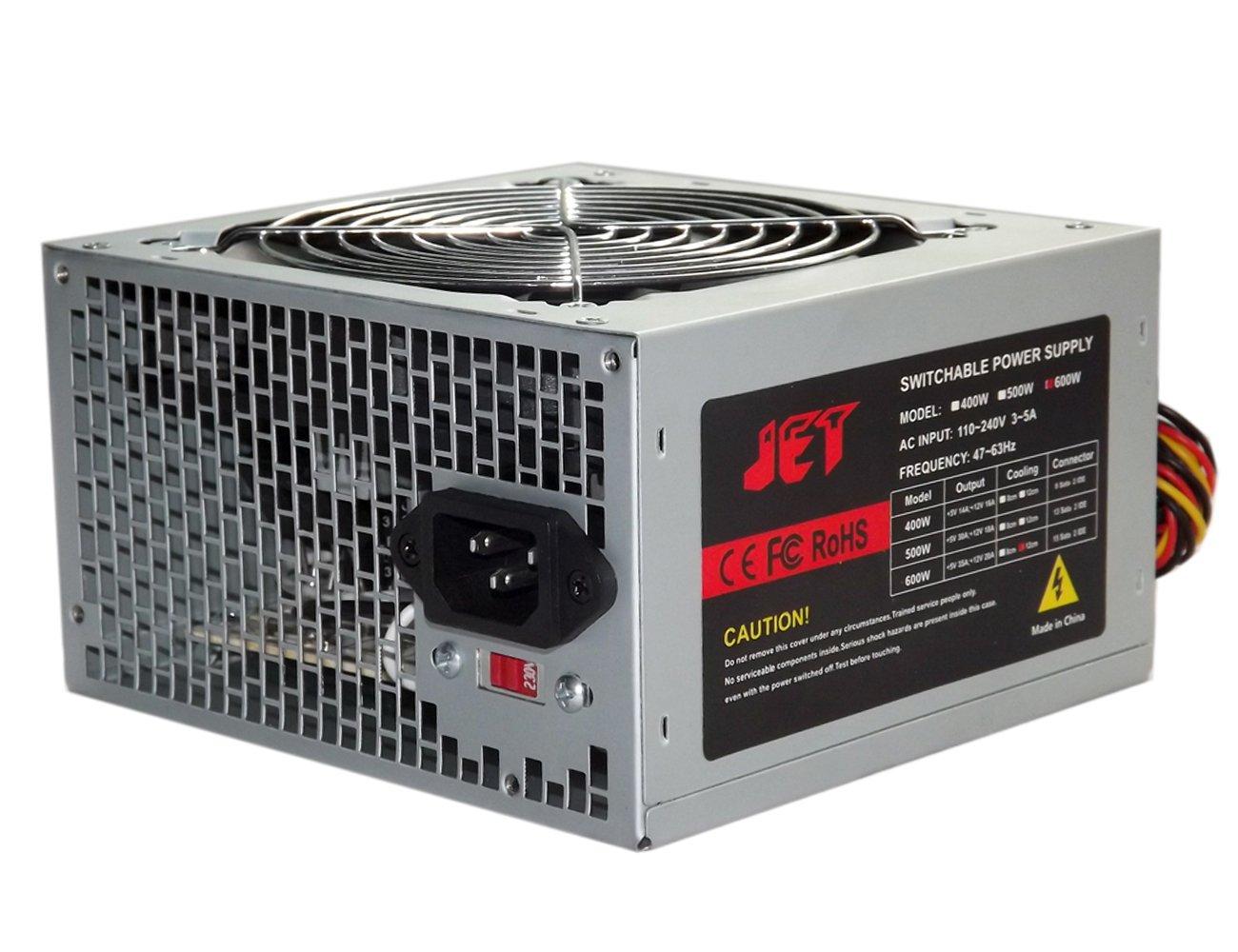 Jet Digital 600W Power Supply 12cm Fan 15 Sata 2 IDE for 11bay 12bay 13bay Duplicator Case