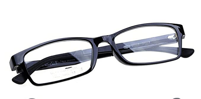 3faf22e58aa74 Amazon.com  Surprising Day Light Eye Glasses Frame Women Men Clear Eyeglass  Small Optical Frames Eyewear Oculos de grau gafas C1 black  Clothing