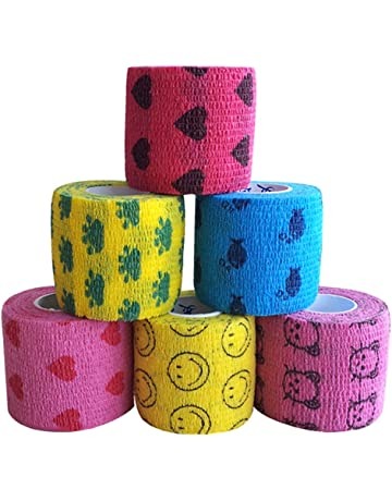 EMVANV vendaje de 5 m para mascotas, cinta autoadhesiva, no tejida, elástica,