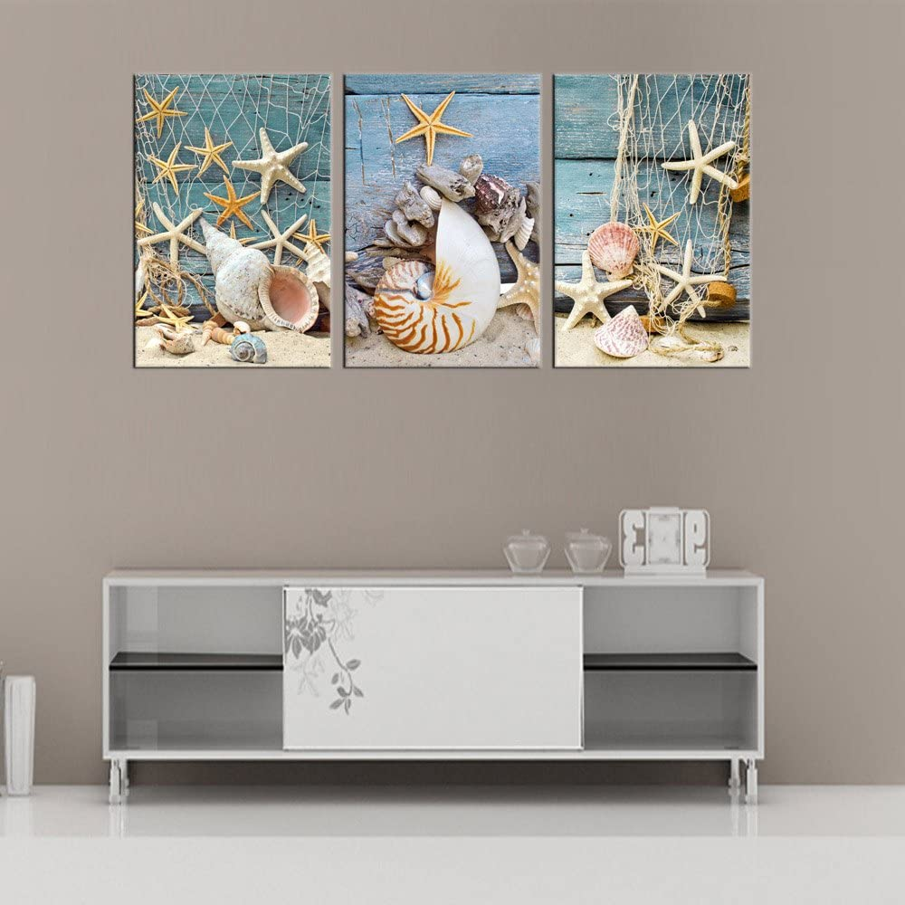 Blossom Canvas Wall Art Bedroom Blue Abstract White Flowers Canvas Picture Bathroom Wall Decor Modern Flower