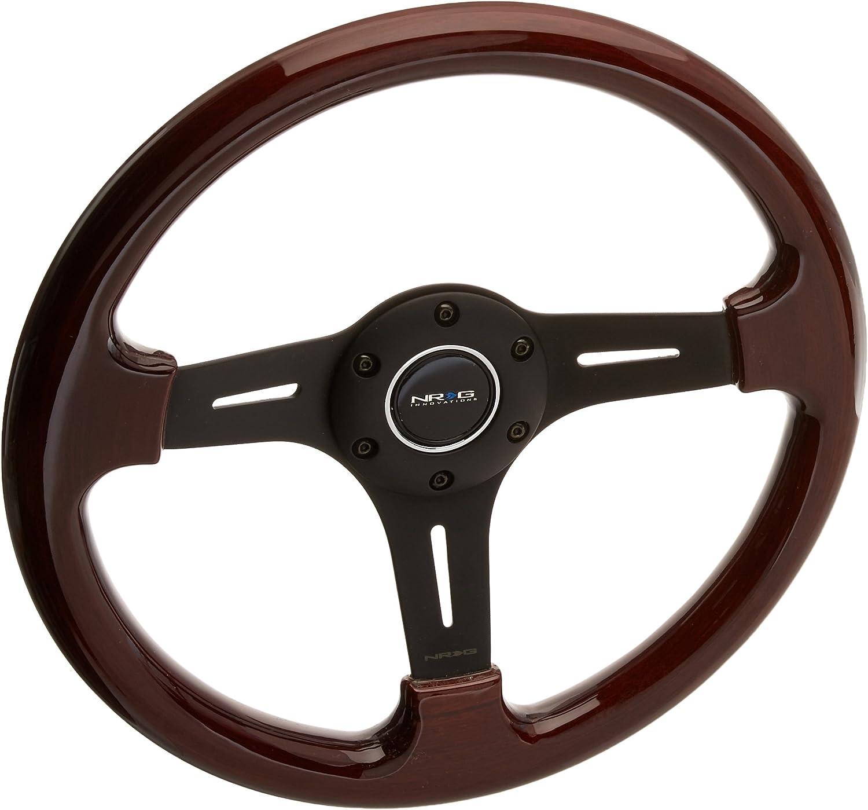 NRG Innovations Classic Black Wood Grain Steering Wheel