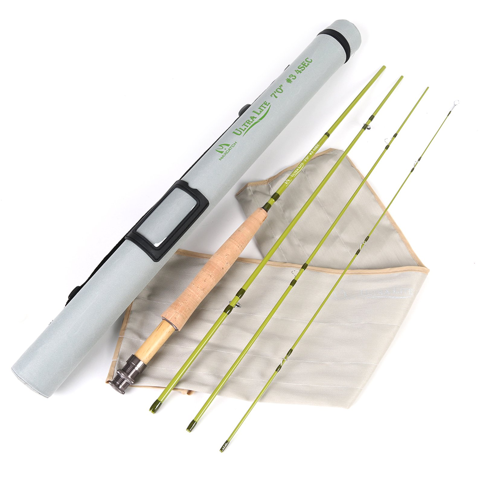 M MAXIMUMCATCH Maxcatch Ultra-lite Fly Rod for Streams Panfish/Trout Fishing 1/2/3 Weight (3-Weight 7ft 4-Piece)