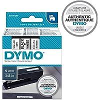 DYMO D1 Label Cassette Tape, 9mm x 7m, Black/White