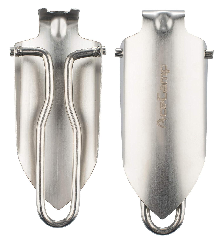 Silver AceCamp 2585 Mini Folding Shovel