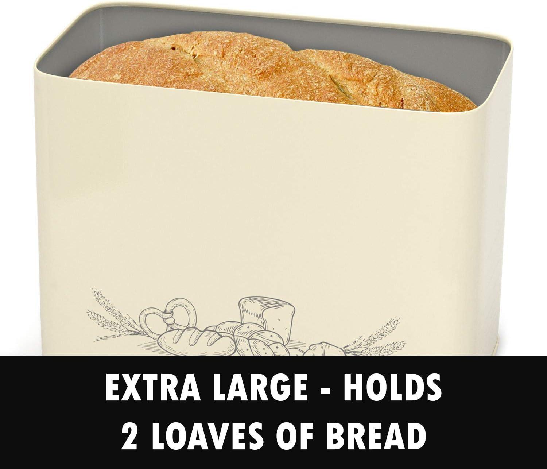 Extremadamente pr/áctica para Cortar Paneras para Guardar el Pan Cesto para Pan,caja de pan de metal ,caja de pan con tapa,Recipiente para Pan caja de pan grande