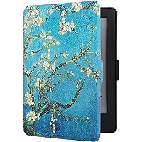 Robustrion Ultra Slim Smart Printed Flip Case Cover for Kindle Paperwhite - Aqua Flower