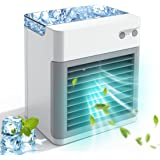 Portable Air Conditioner, Personal Air Cooler Fan, 2000 mAh Power Rechargeable Mini Air Conditioner, Evaporative Compac Air C
