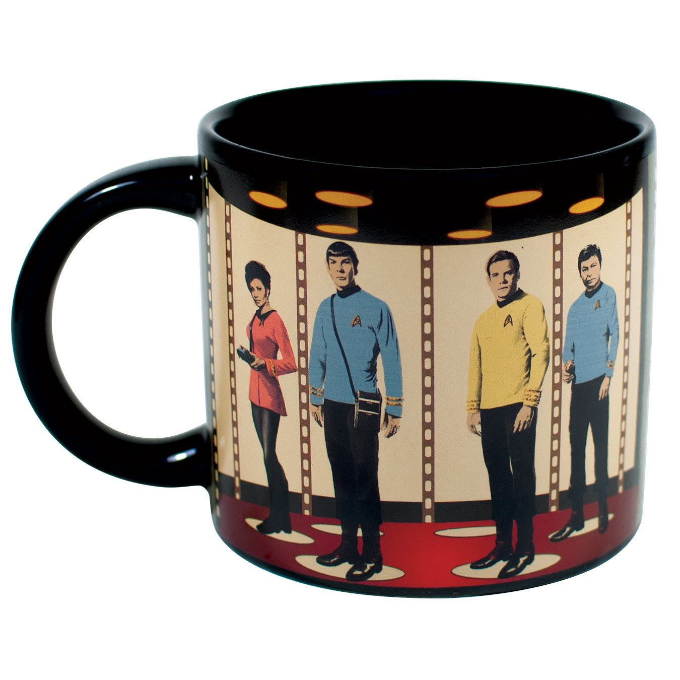 Star Trek Transporter Heat Changing Mug - Add Coffee or Tea and Kirk, Spock, McCoy and Uhura Appear on the Planet's Surface - Comes in a Fun Gift Box