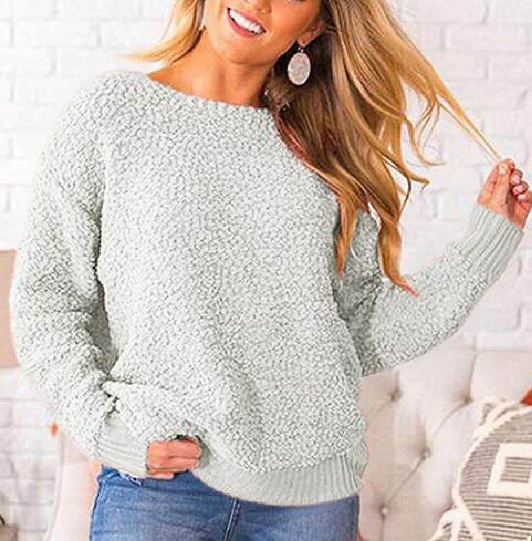 Abeaicoc Womens Long Sleeve Cold Shoulder Pullover Backless Top Sweater
