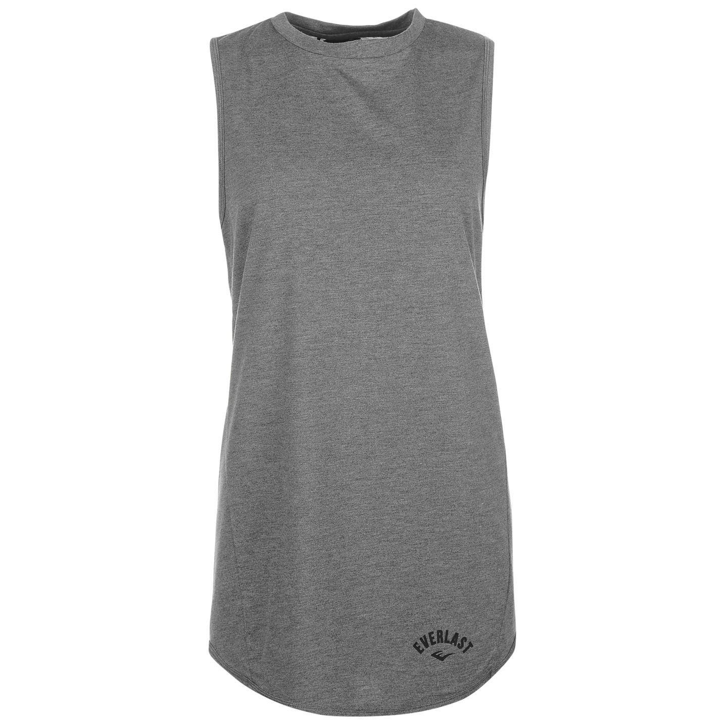 Everlast Womens Long Vest Tank Top Sleeveless Crew Neck Lightweight:  Amazon.co.uk: Clothing