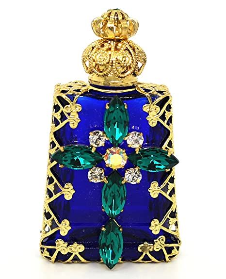 Amazon.com: Jewelled cruz cristiana decorativos checa Aceite ...