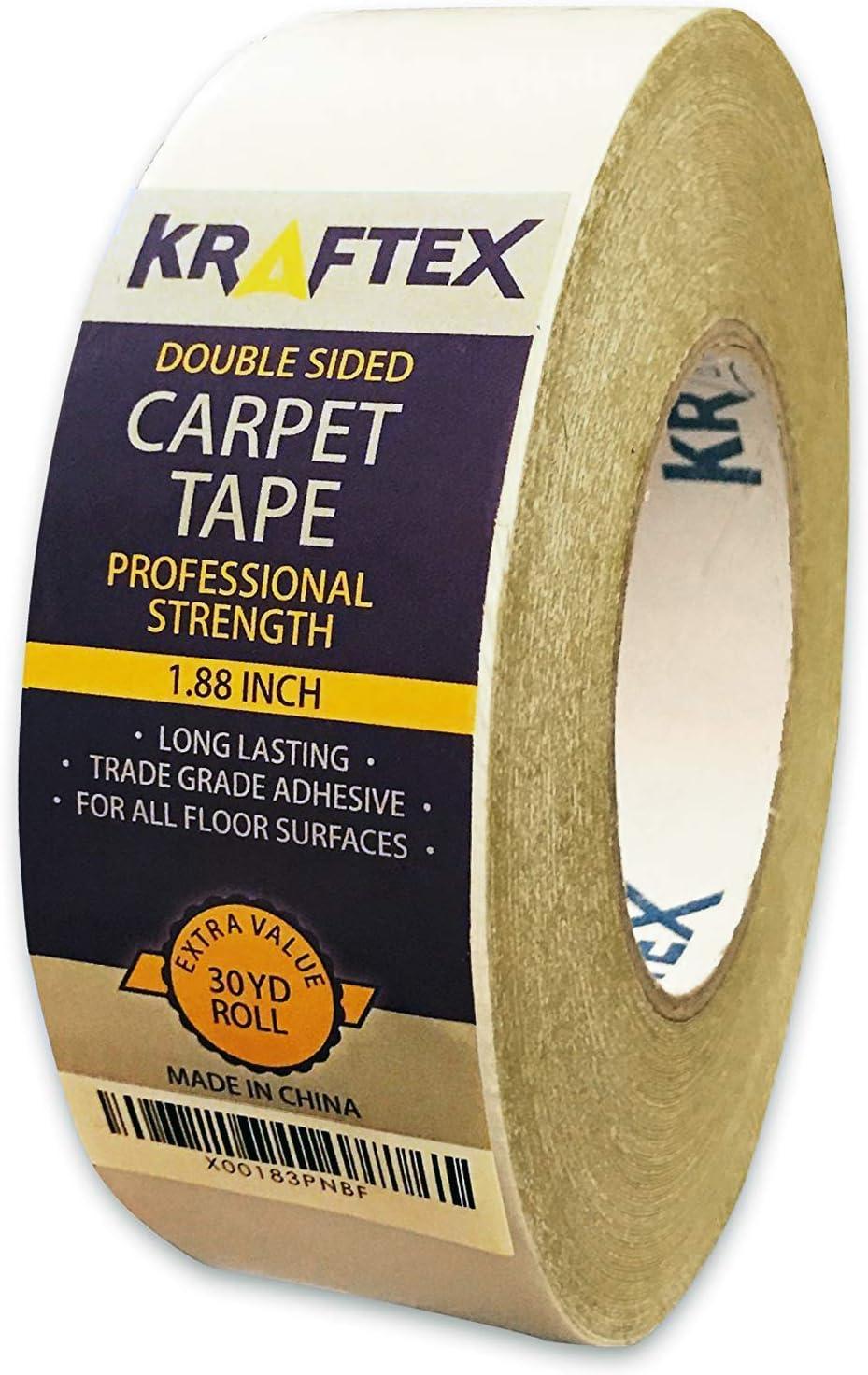 Roll Double Sided Carpet Rug Mat Vinyl Tile Floor Fixing Gripper Adhesive Tape