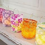 Lot de 5 Lanternes en Papier pour Bougies LED, Motifs Bohèmes Assortis