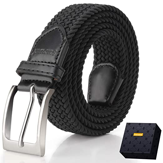 Elastic Braided Belt, Fairwin Enduring Stretch Woven Belt for Men/Women/Junior
