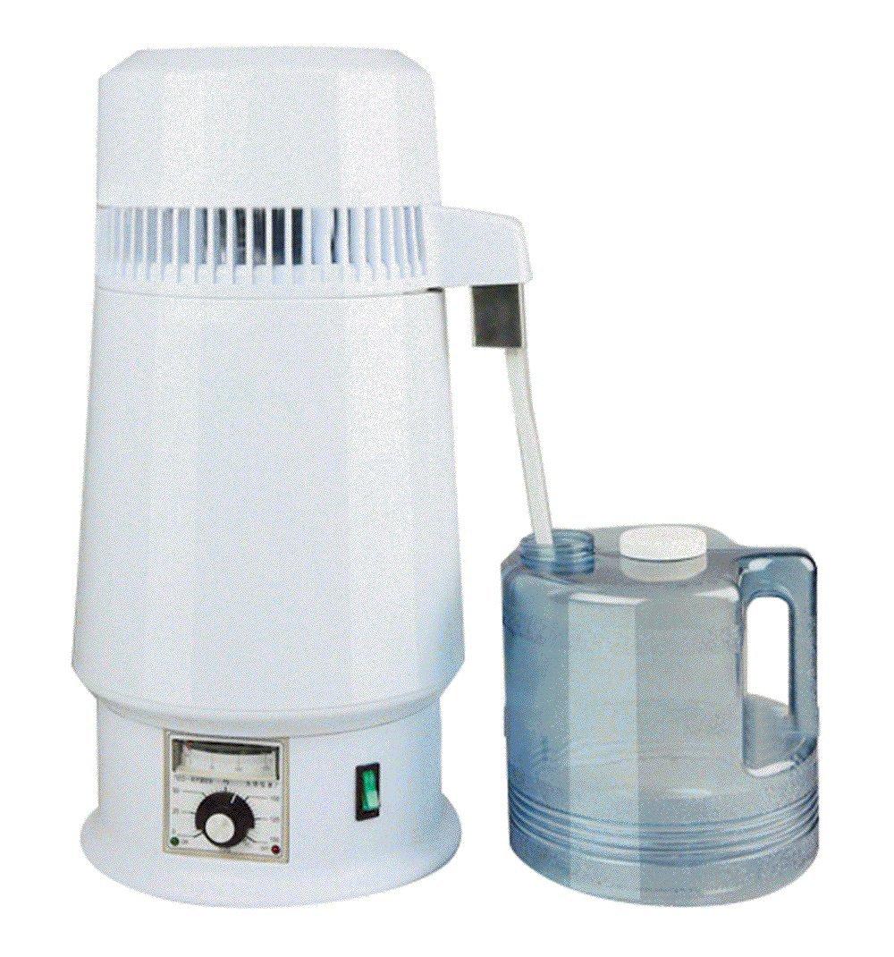 Water Distiller 4L Water Distiller Purifier Stainless Steel Countertop Water Distiller 750W Distilled Purified Adjustable Temperature Medical Lab Home Water Distiller