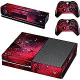 eSeeking Whole Body Vinyl Skin Sticker Decal Cover for Microsoft Xbox One Console Red Galaxy Nebular