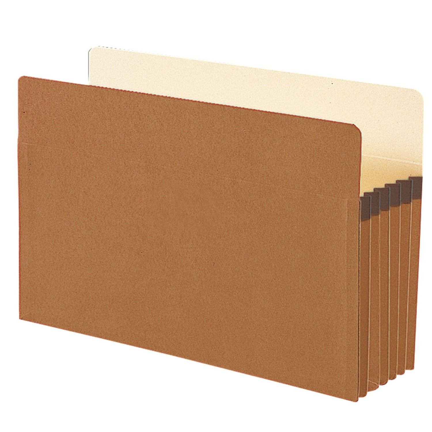 Smead 100 Percent Recycled Pockets, 5-1/4' Expansion, Legal Size, Redrope, 10 Per Box (74206) 5-1/4' Expansion