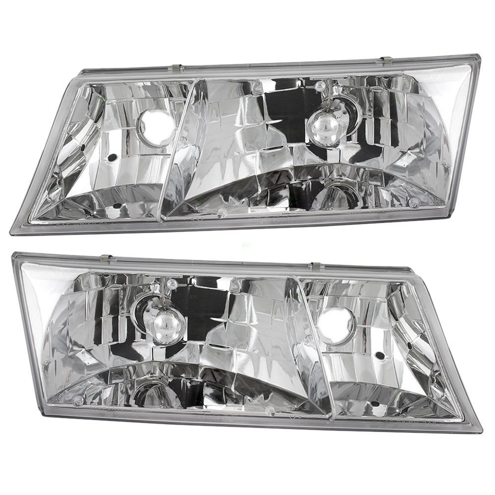 BuyRVlights Newmar Mountain Aire 37ft 2000-2004 RV Motorhome Pair (Left & Right) Replacement Headlights Head Lights Front Lamps