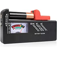 SURDARX Battery Tester, Universal Battery Checker for AA AAA C D 9V 1.5V Button Cell Batteries (Model: BT-168)