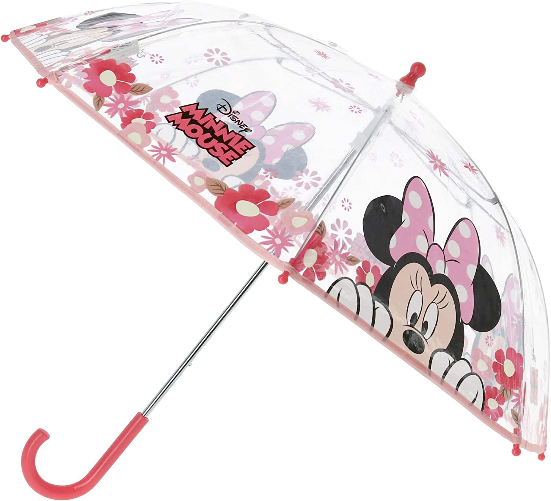 Minnie Mouse Paraguas Minnie | en Rosa y Transparente Sombrilla para niños