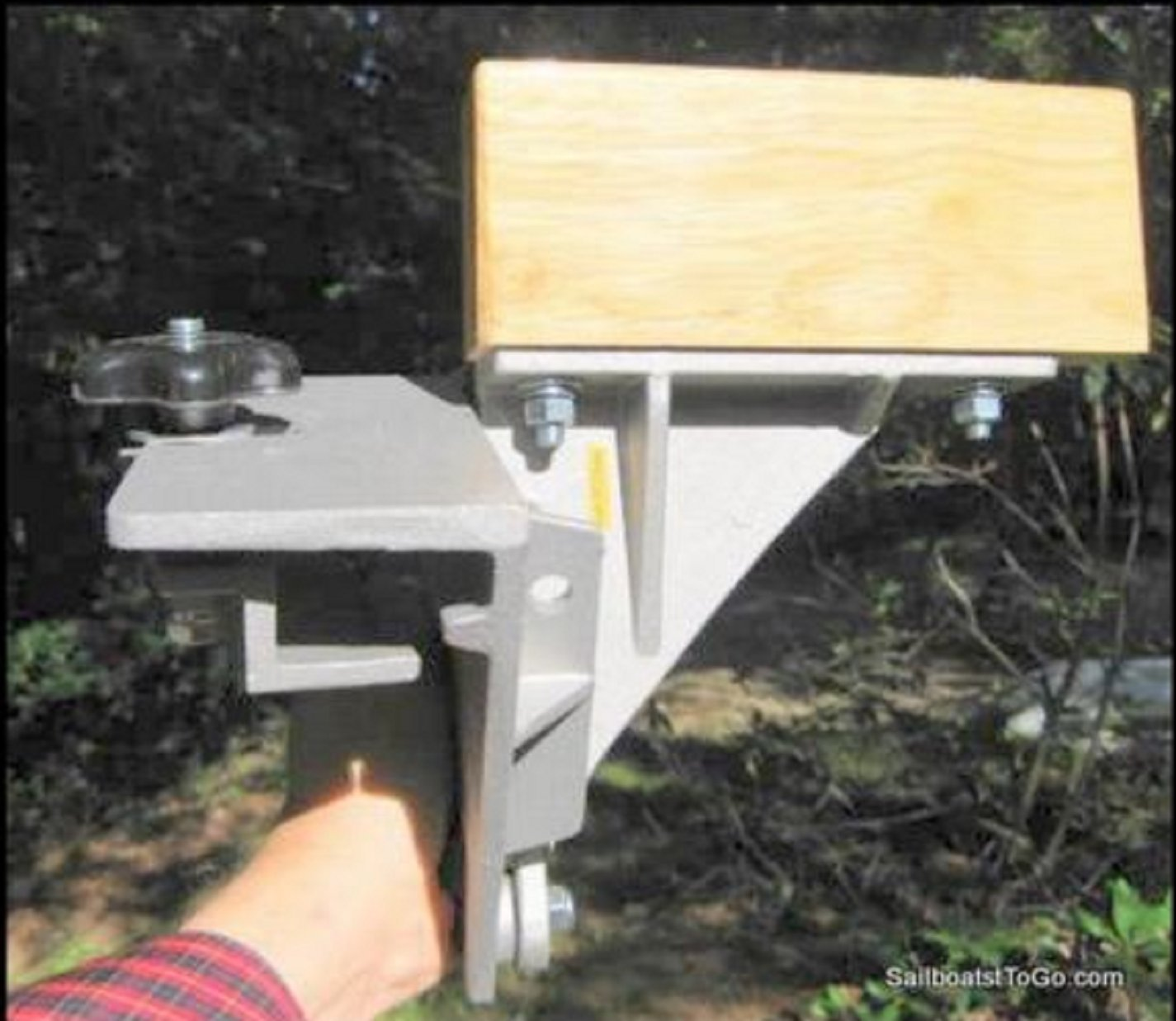 TNS STORE Side Saddle Canoe Motor Mount - Fits Old Town with Vinyl Gunwales