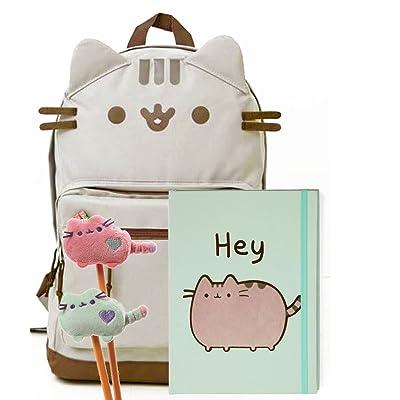 788649a268 Pusheen The Cat Back To School Set - Pusheen Cat Face Backpack, Pusheen Hey!