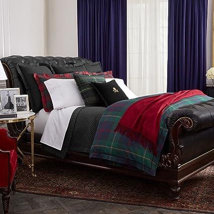 Ralph Lauren Home Kensington Tartan Plaid King Duvet Comforter Cover Set 3  PC