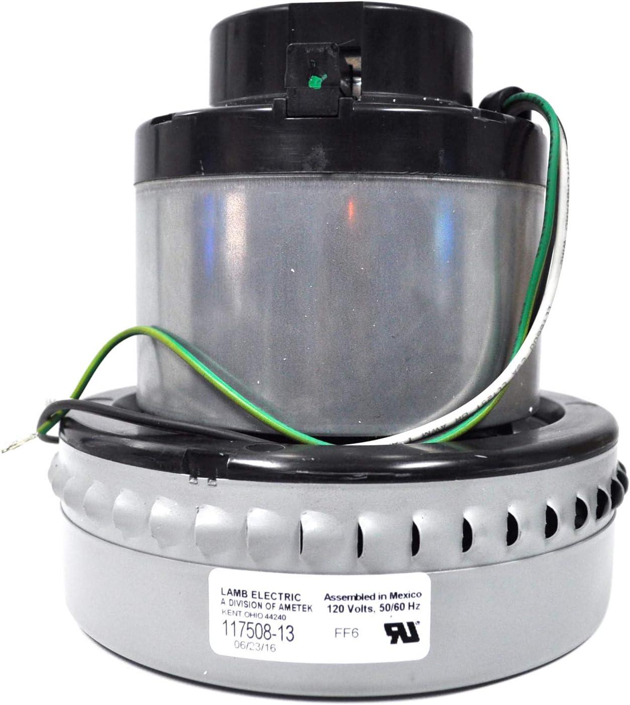 Ametek Lamb 7.2 Inch 2 Stage Bypass Vacuum Motor 117508-13
