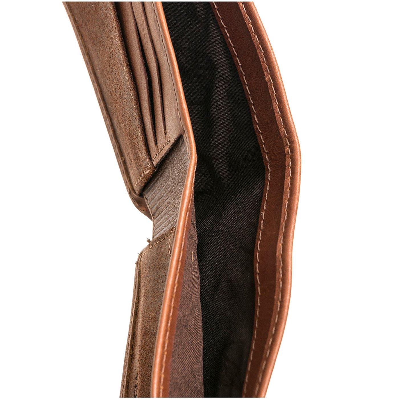 VELEZ Genuine Mens Soft Colombian Leather Bifold Wallet Carteras de Cuero Colombiano para Hombres