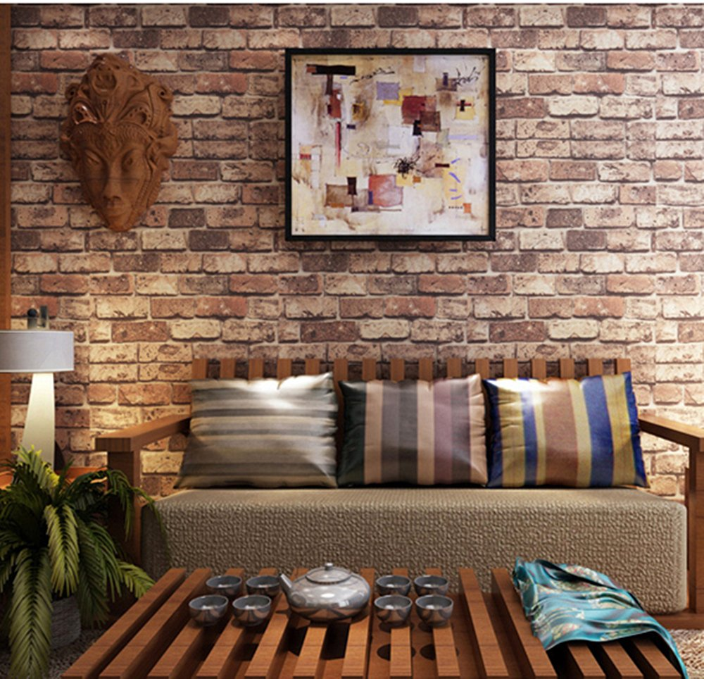 Blooming Wall Cultural Faux Rustic Tuscan Brick