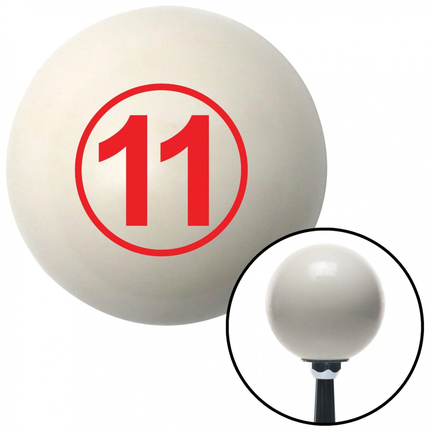 Red Ball 11 American Shifter 30356 Ivory Shift Knob with 16mm x 1.5 Insert