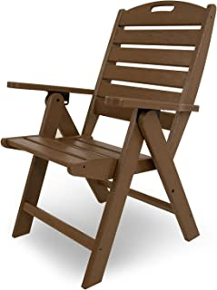 product image for POLYWOOD NCH38TE Nautical Highback Chair, Teak