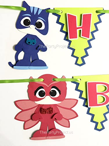 "PJ Masks ""Happy Birthday"" banner 