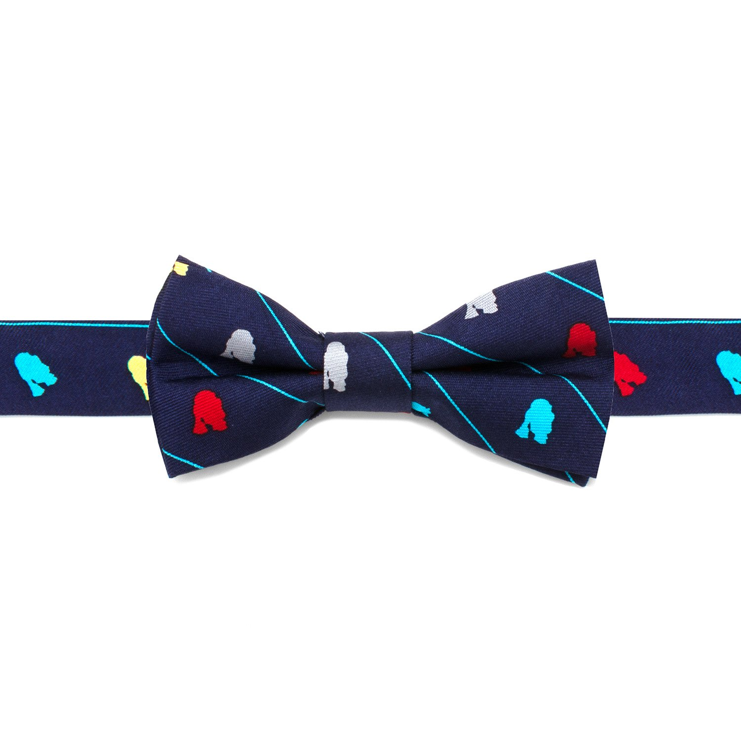 Star Wars R2D2 Striped Boys' Silk Bow Tie, Officially Licensed