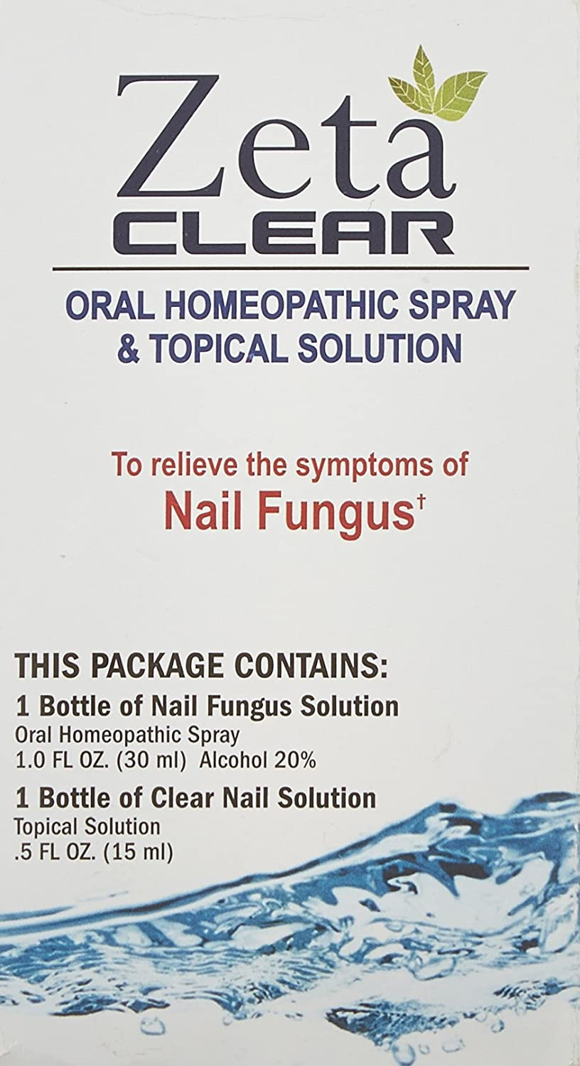 Zetaclear Nail Fungus Treatment Oral Homeopathic Spray And